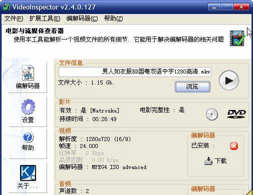 VideoInspector Portable v2.80.132 绿色中文免费版