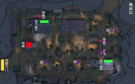 第五人格闪金石窟地窖与平面图全览