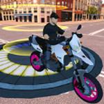 棘手的摩托车坡道