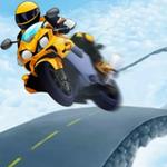 摩托车空中跳跃